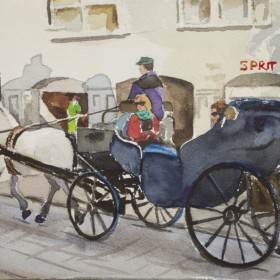 """Where to? (Ghent carriage)"", by Gustavo Guzman Staforelli"