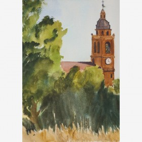 """Spanish Church"", by Gustavo Guzman Staforelli"