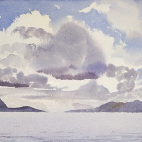 """Blue against fog; Puyuhuapi"", by Gustavo Guzman Staforelli"